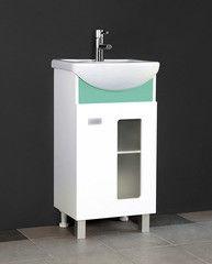 Зеленая мебель для ванной Норта Тумба Дуэт 45