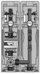 Комплектующие для систем водоснабжения и отопления Meibes Насосная группа FL-MK 66549.11 с насосом Grundfos MAGNA 65-120F