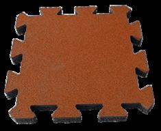"""Резиновая плитка Rubtex Плитка """"Пазл"""" 500x500, толщина 40мм (коричневая)"""