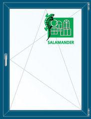 Окно ПВХ Окно ПВХ Salamander 800*1100 2К-СП, 5К-П, П/О ламинированное (темно-синий)