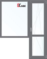 Окно ПВХ Окно ПВХ KBE 1860*2160 2К-СП, 5К-П, Г+П/О ламинированное (серый)