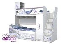 Двухъярусная кровать Сканд Мебель Леди-4 + Леди-3 (кр)