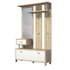 Прихожая Мебель-Неман Домино Сонома ВК-04-22 (белый полуглянец)