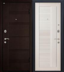 Входная дверь Входная дверь МеталЮр М17 (эшвайт мелинга, матовое стекло)
