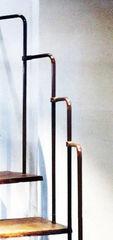 Элементы ограждений и лестниц Интерсилуэт Стойка поручня Ф25мм H-1100*450мм