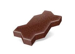 """Резиновая плитка Rubtex Брусчатка """"Волна"""" 220x130 (толщина 20 мм, коричневая)"""