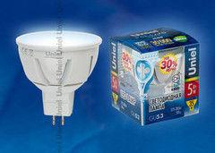 Лампа Лампа Uniel LED-JCDR-5W/NW/GU5.3/FR ALP01WH пластик