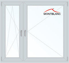 Окно ПВХ Montblanc Termo 60 1460*1400 1К-СП, 5К-П, П/О+П