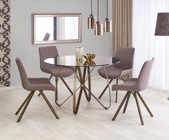 Обеденный стол Halmar Lungo (коричневый/античное золото)