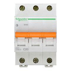Schneider Electric Автоматический выключатель Домовой ВА63 3П 20A C 4,5 кА 11224