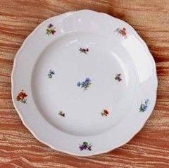 Cesky Porcelan Тарелка глубокая флажная Rokoko Газенка 10002/H0002 (24см)