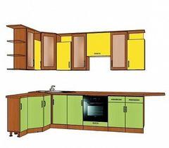 Кухня Кухня ЗОВ Из крашеного МДФ желто-зеленая