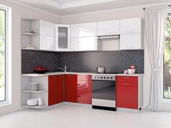 Кухня Кухня Интерлиния Мила Глосс Белый + Красный