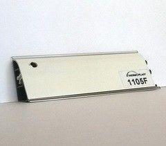 Krokos Плинтус 1105F Белый глянец 3м