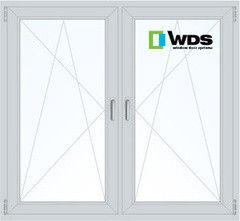 Окно ПВХ Окно ПВХ WDS 1460*1400 1К-СП, 3К-П, П/О+П/О