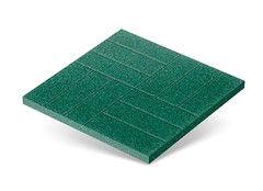 "Резиновая плитка Rubtex Плитка ""Брусчатка"" 500x500 (зеленая)"