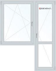 Окно ПВХ Окно ПВХ Dexen 1440*2160 1К-СП, 4К-П, П/О+П
