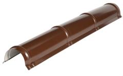 Комплектующие для кровли ИЗОГРУПП Конек круглый (0.5 мм) глянец