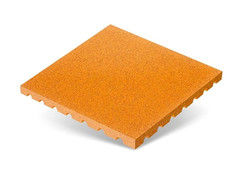 "Резиновая плитка Rubtex Плитка ""Грунт"" 500x500 (толщина 40 мм, охра)"