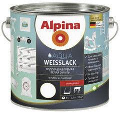 Эмаль Эмаль Alpina Aqua Weisslack 2,5L