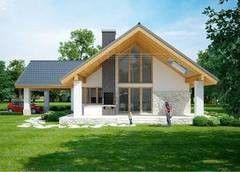 Строительство из газосиликатных блоков LIGHT HOUSE Проект дома 105