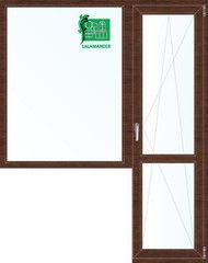 Окно ПВХ Окно ПВХ Salamander Окно ПВХ 1860*2160 2К-СП, 5К-П, Г+П/О ламинированное (темное дерево)