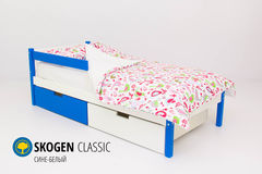 Детская кровать Детская кровать Бельмарко Skogen Classic сине-белый
