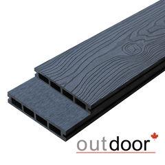 Террасная доска Outdoor ДПК 3D 150x25x4000 мм Ocean Black (черная)