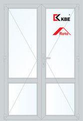 Дверь ПВХ Дверь ПВХ KBE 1300*2100 двустворчатая  Модель 91