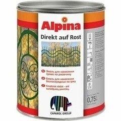 Эмаль Эмаль Alpina Direkt Auf Rost, 0.75 л