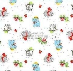 Ткани, текстиль Шуйские Ситцы Ситец 95 белоземельный №79931