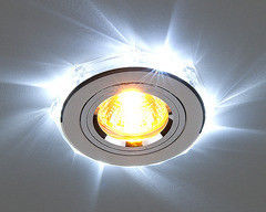 Встраиваемый светильник Elektrostandard 2020/2 SL/LED/WH (хром / белый)