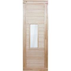 Дверь для бани и сауны Дверь для бани и сауны Банные штучки деревянная 1700x700 со стеклом арт. 34021