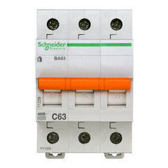 Schneider Electric Автоматический выключатель Домовой ВА63 3П 63A C 4,5 кА 11229