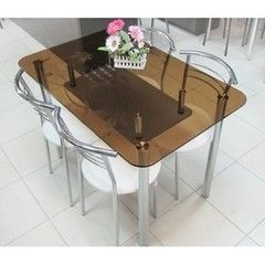 Обеденный стол Обеденный стол Центр стекла Комби 110х70