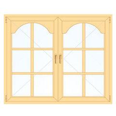 Деревянное окно Сосна для веранды, 1с, Модель 3