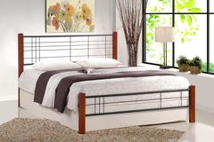 Кровать Кованая кровать Halmar Viera 120 (черешня античная/черный)