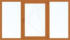 Деревянное окно Дуб 2060*1420, в/с, Г+П/О+Г