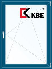 Окно ПВХ Окно ПВХ KBE Окно ПВХ 800*1100 2К-СП, 5К-П, П/О ламинированное (темно-синий)