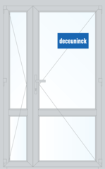 Дверь ПВХ Дверь ПВХ Deceuninck Фаворит Спэйс 1300*2100 1К-СП двустворчатая Модель 9