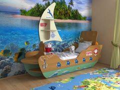 Детская кровать Детская кровать СлавМебель Кораблик 160 (ольха/ваниль)