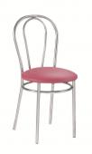 Кухонный стул САВ-Лайн Тулипан хром (розовый)