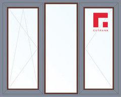 Дерево-алюминиевое окно Gutmann Меранти 2060*1420, 1с, П/О+Г+П