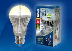 Лампа Лампа Uniel LED-A60-8W/WW/E27/FR ALS01SL