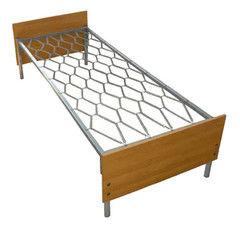 Кровать Кровать Европротект ДКП-1 металлическая со спинками из ЛДСП (90x190см)