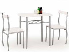 Обеденный стол Обеденный стол Halmar Lance (белый/серый)
