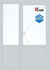 Дверь ПВХ Дверь ПВХ KBE 1500*2100 двустворчатая Модель 68