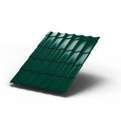 Металлочерепица МеталлПрофиль Монтеррей 0.4 мм (полиэстер, RAL6005)