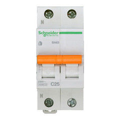 Schneider Electric Автоматический выключатель Домовой ВА63 1П+Н 25A C 4,5 кА 11215