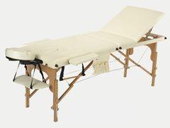 Мебель для салонов красоты  Массажный стол AAF 3-х сегментный складной (дерево), цвет беж